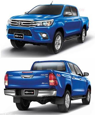 Toyota Hilux 2017 front and rear look