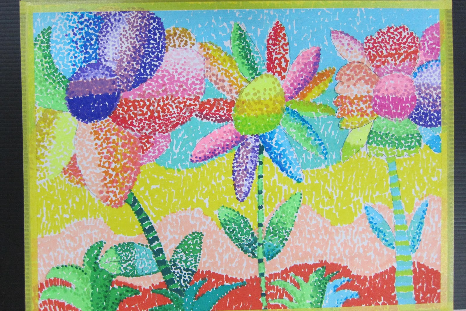 五顏六色玩創意-永和國小朱正忠老師的教學網頁: 點描畫 點點畫 點描畫創作