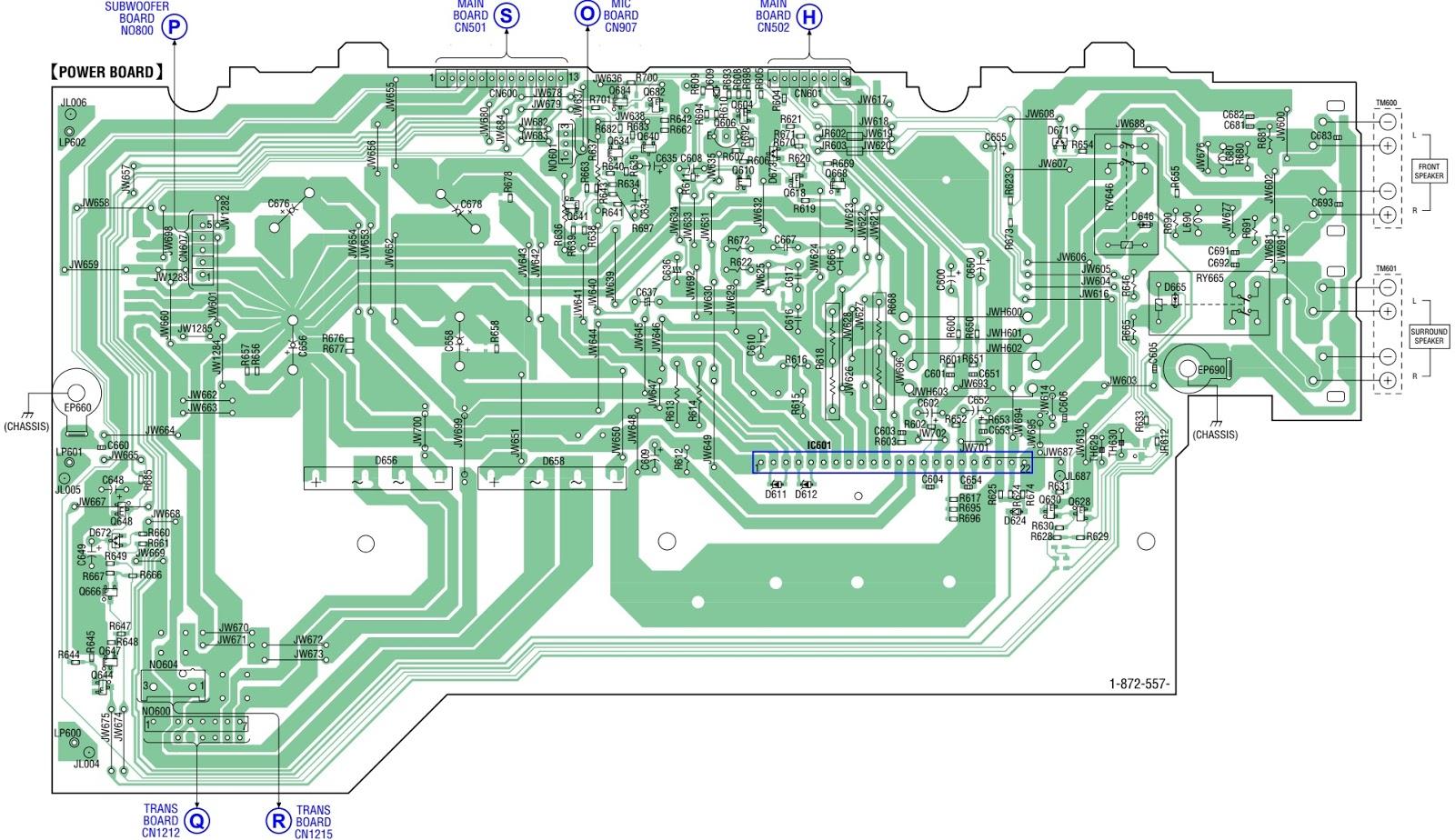 Sony MHC GTX88 – Brazilian Model – power supply, power amplifier and ...