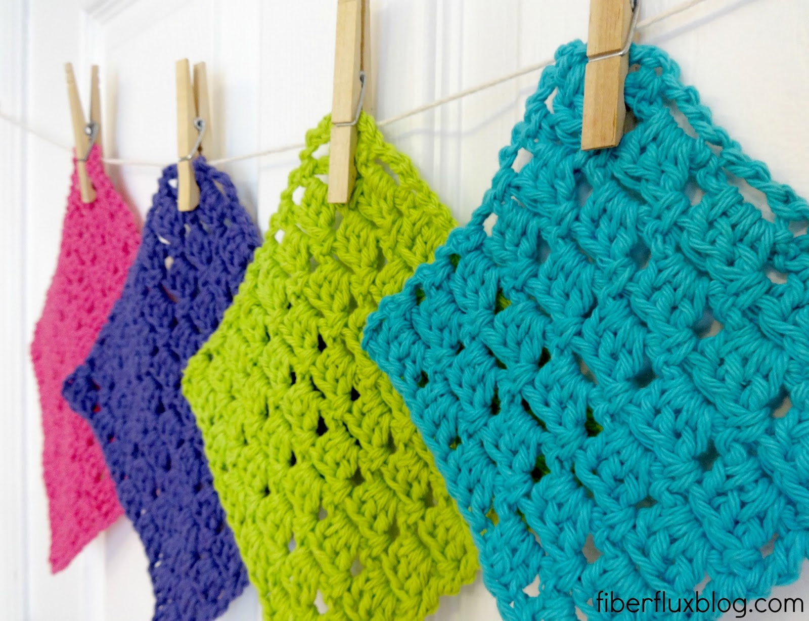 Fiber Flux: Free Crochet Pattern...Sparkling Clean Dishcloths!