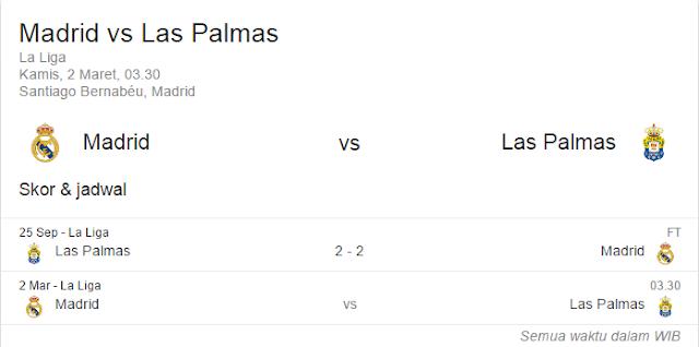 Prediksi Skor Real Madrid vs Las Palmas | Polisibola.com