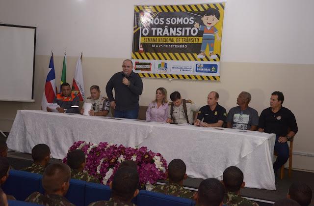 Prefeitura de Barreiras abre oficialmente a Semana Nacional de Trânsito com o tema 'Nós somos o trânsito'