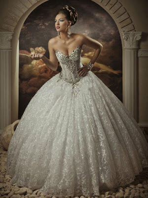 Ball Gown Exquisite Sweetheart Sleeveless Beading Floor-Length Lace Wedding Dress Newcastle (11011467)