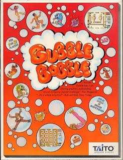 Portada del casete de Bubble Bobble para Commodore 64