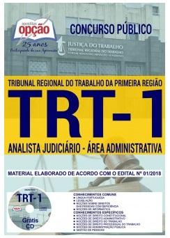 apostila concurso TRT-1 RJ 2018 - ANALISTA JUDICIÁRIO