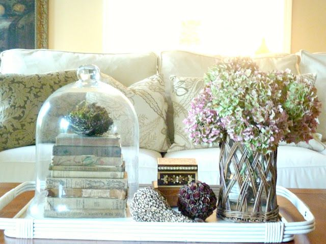 decorating-with-cloches-coffee-table