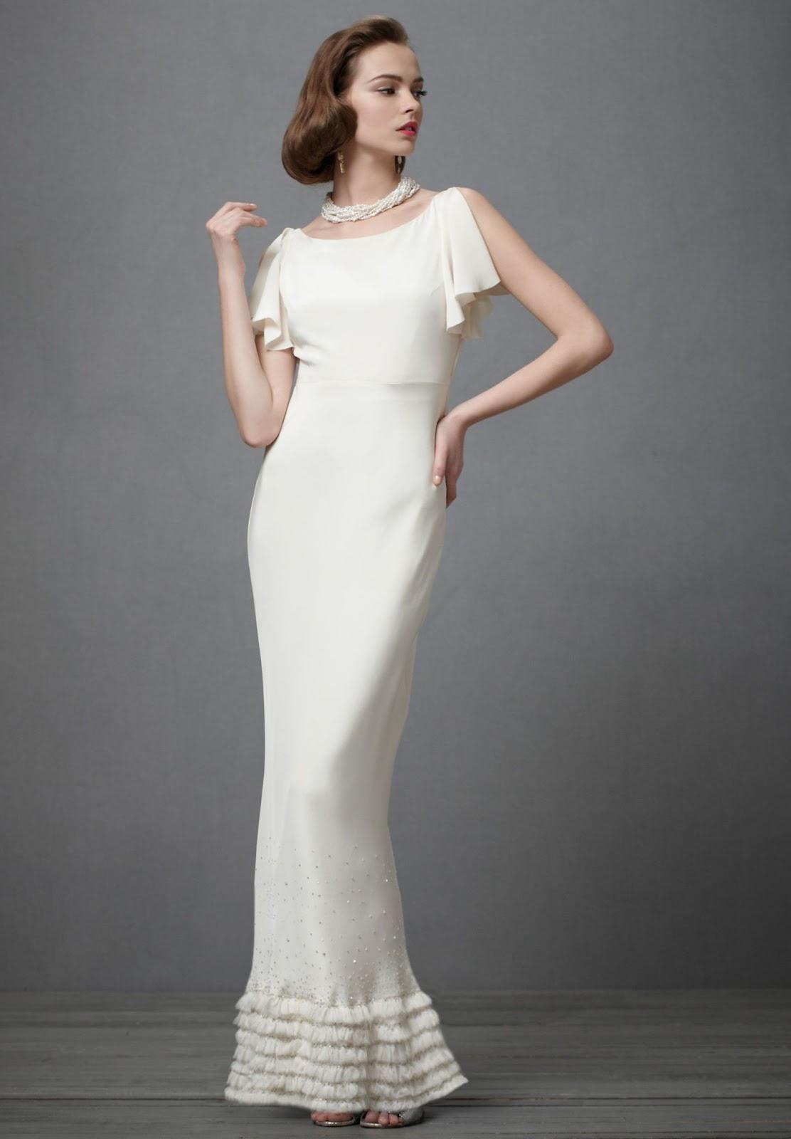 weddingreceptiondresses blogspot reception wedding dress Chiffon Bateau Column Reception Wedding Dress