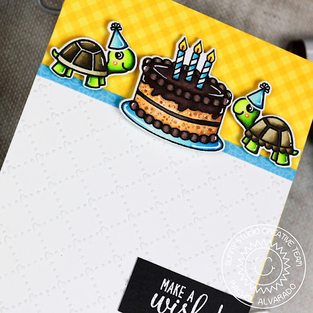 Sunny Studio Stamps: Make A Wish Turtley Awesome Stitched Ovals Birthday Cards by Rachel Alvarado