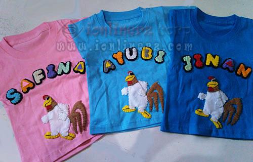 Kaos / Baju Flanel Anak Karakter Kartun Ayam