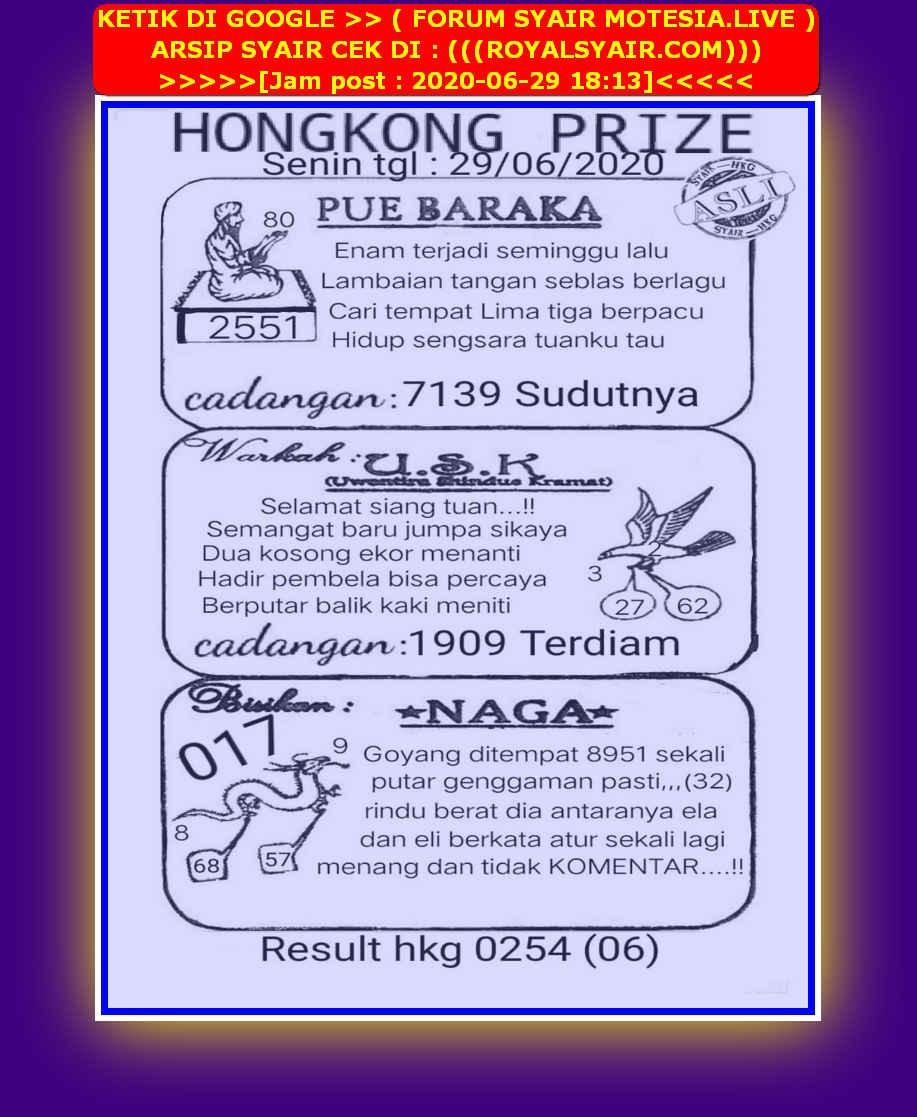 Kode syair Hongkong Senin 29 Juni 2020 41
