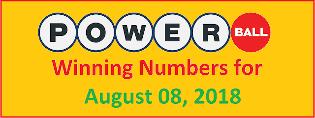 PowerBall Winning Numbers for Wednesday, 08 August 2018