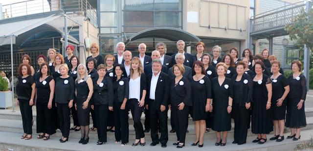 Η χορωδία του Συνδέσμου μας ΛΙΓΕΙΑ στην Κοζάνη