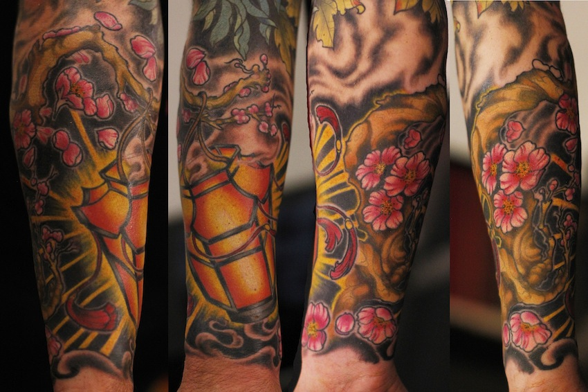 DEVIATION TATTOO: chinese lantern and cherry blossoms