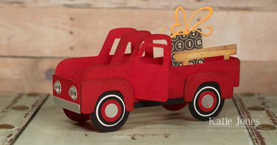 crafting with katie  vintage truck box card