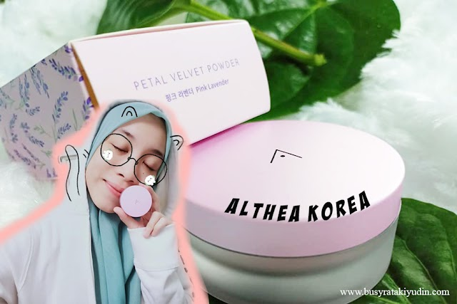 BEDAK COMEL DARI ALTHEA KOREA | PETAL VELVET POWDER
