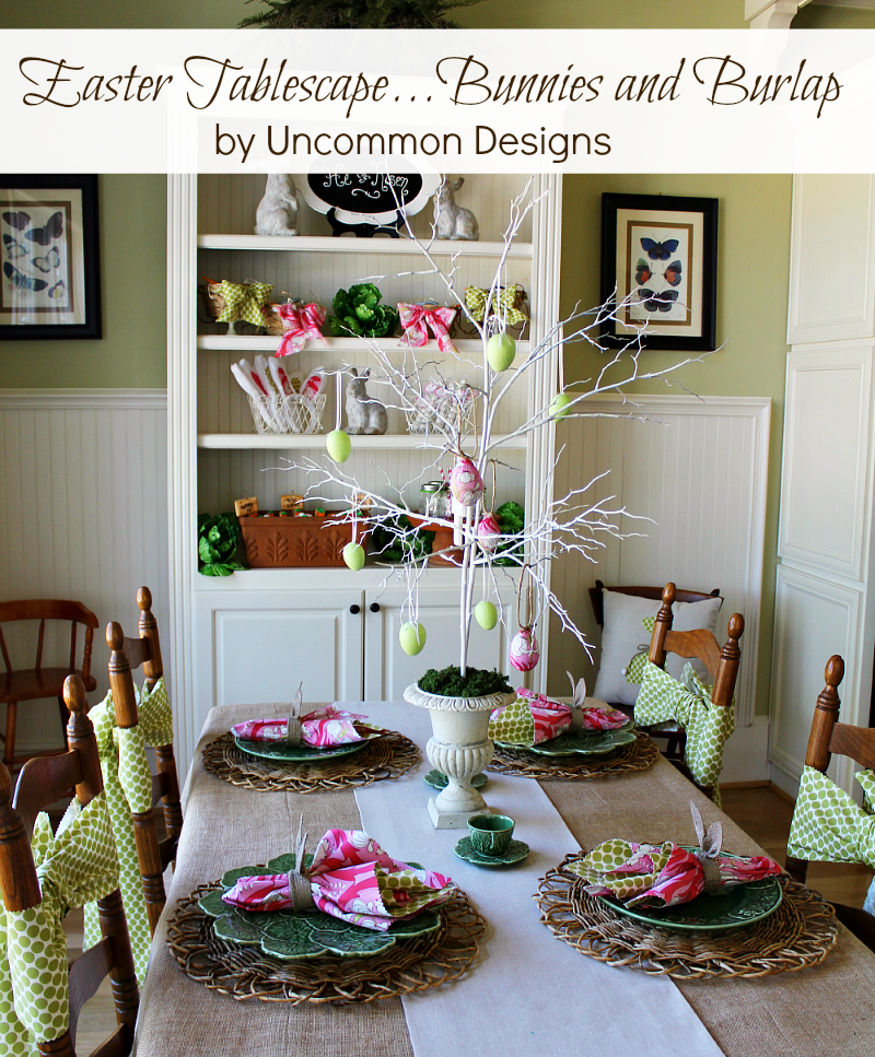 http://www.uncommondesignsonline.com/easter-tablescape-bunnies-and-burlap/