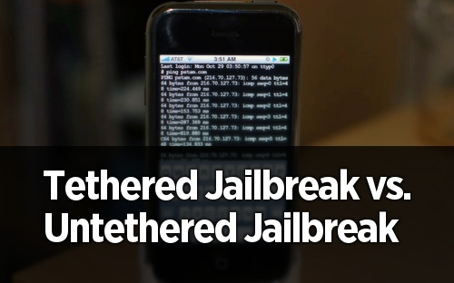 Difference Between Tethered and Untethered jailbreak