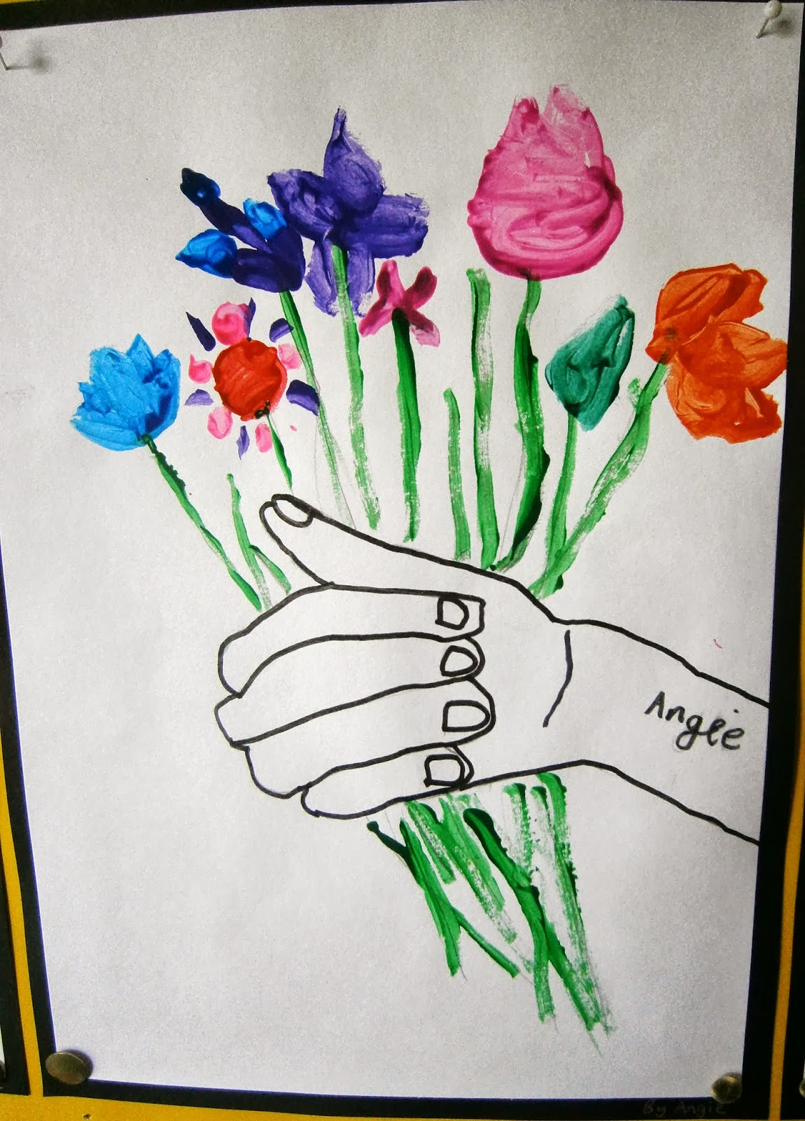 Art With Mrs Baker Picasso Spring Flower Paintings