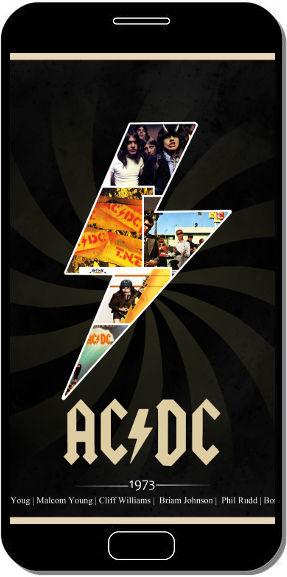 AC/DC Groupe Hardrock - Fond d'Écran en QHD pour Mobile