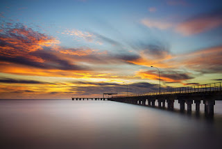 foto long exposure speed lambat dermaga pier