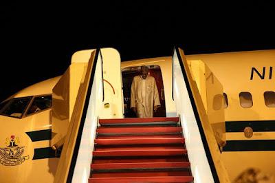 Photos: President Buhari arrives Abuja, declares his UNGA71 outing, a success