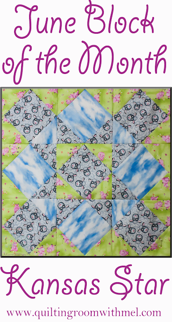 kansas star quilt block