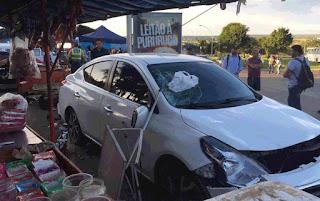 Carro desgovernado atropela 7 pessoas em Brasília - Foto: Mara Puljiz/TV Globo