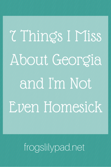 7 Things I Miss About Georgia l frogslilypad.net