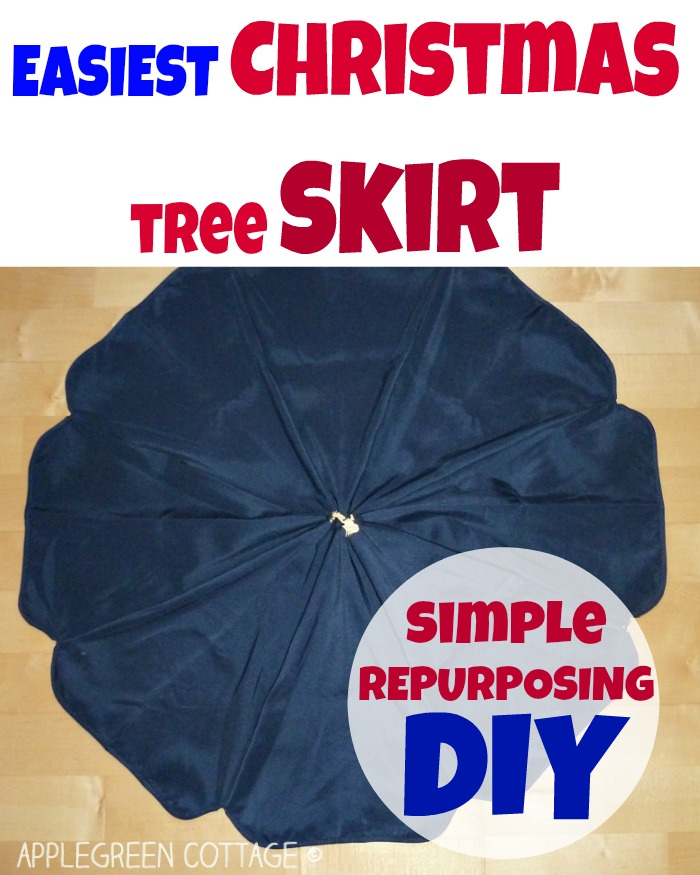 How To Make the Easiest Christmas tree skirt
