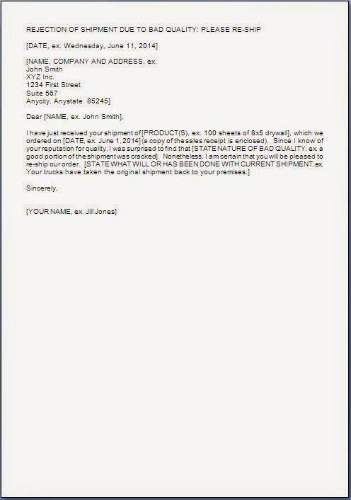 material letters template - material return back letter format