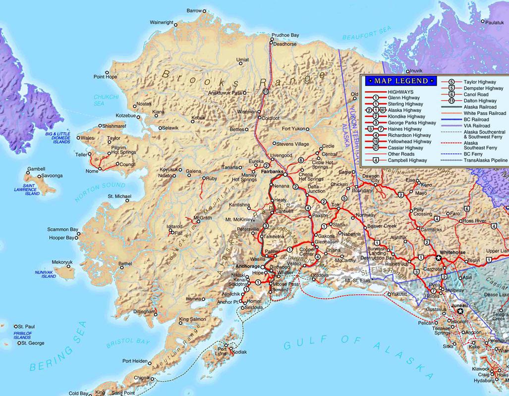 South Alaska Map.Northwest Explorer Southern Alaska Road Trip 2002
