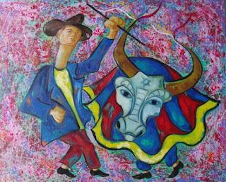 Bumba meu boi  - Pintura de Cícera Dias