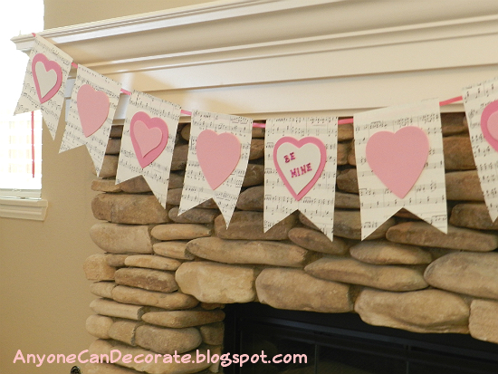 Anyone Can Decorate Diy Valentine Decorating Bunting Flag Banner