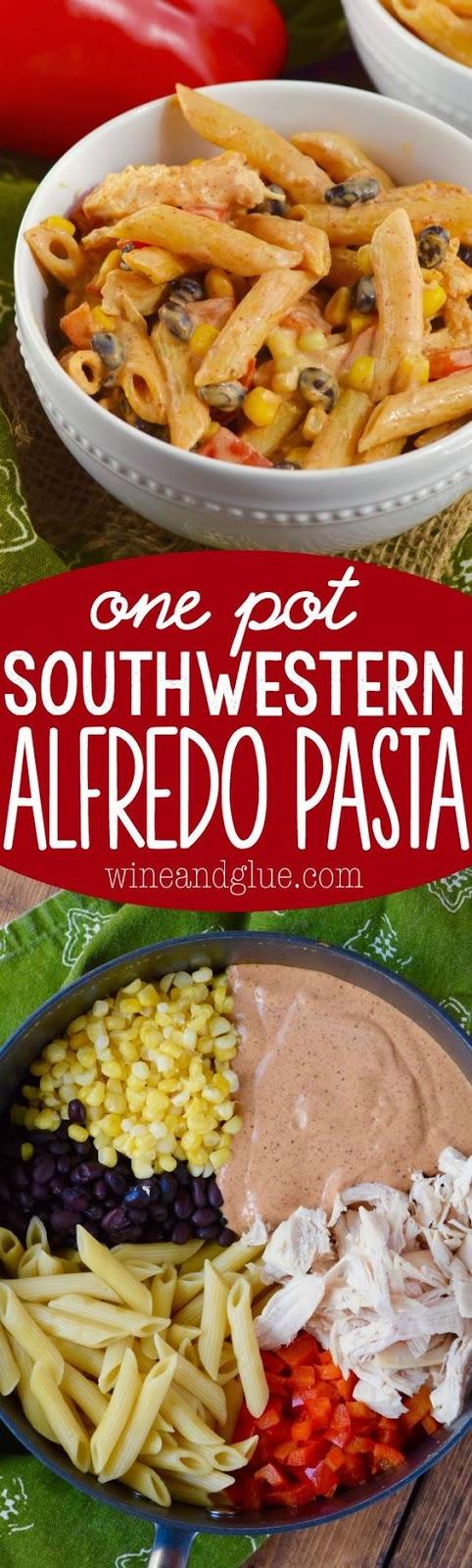 One Pot Southwestern Alfredo Pasta