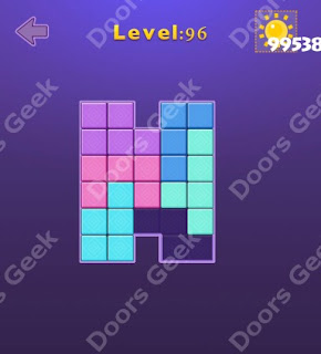 Cheats, Solutions, Walkthrough for Move Blocks Easy Level 96