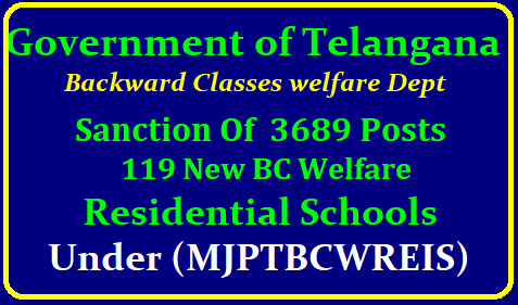 TS Gurukula 3689 Posts Sanctioned to fill up in New 119 TSWREIS Schools TS_Gurukula-creation-of-3689-posts-in-tswreis-bc-welfare-residential-schools-under-mjptbcwreis-go-8-dt-28-01-2019/2019/01/TSGurukula-creation-of-3689-posts-in-tswreis-bc-welfare-residential-schools-under-mjptbcwreis-go-8-dt-28-01-2019.html