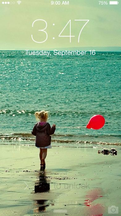 Beach Girl Red Balloon Iphone Xr Wallpaper Wallpaper