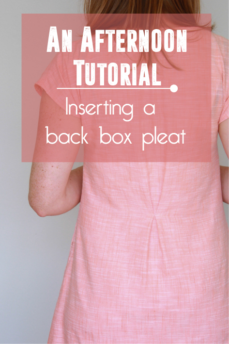An Afternoon Tutorial Inserting A Back Box Pleat