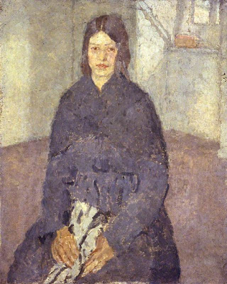 Seated Girl Holding a Piece of Sewing (1915), Gwen John