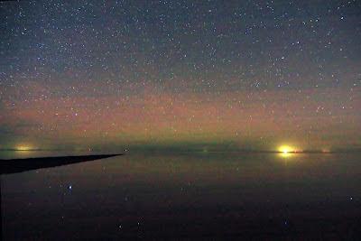 Fotografisch poollicht of noorderlicht in Nederland.