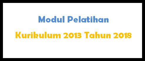 Modul Pelatihan K-2013 Pendidikan Agama Tahun 2018