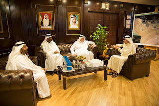 HE Saeed Mohammed Al Tayer, MD & CEO of DEWA, receives delegation from Masdar