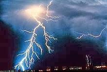 ظاهرة البرق والرعد والصواعق