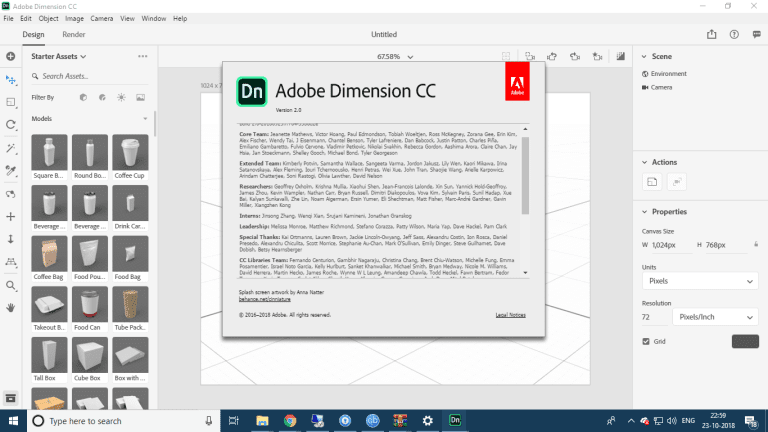 Adobe Dimension CC 2019 v2.0 Full Free Download