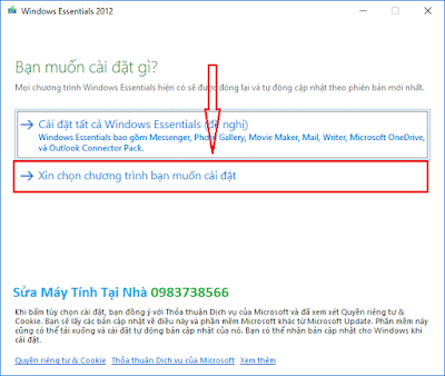 Cài đặt windows live mail 2012 - H01