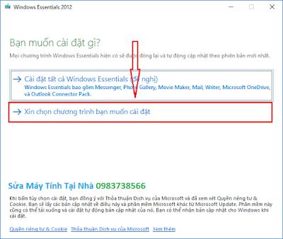 Cài đặt windows live mail 2012 - H01