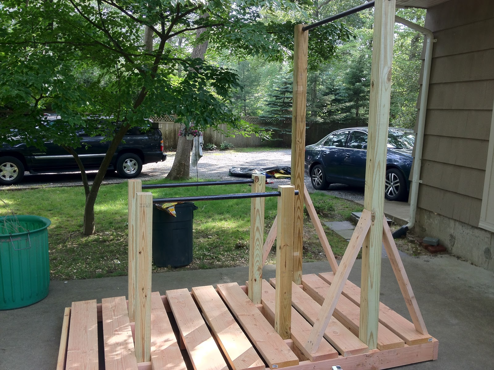 Back Yard pull up/dip station | DIY Crossfit | Pinterest ...
