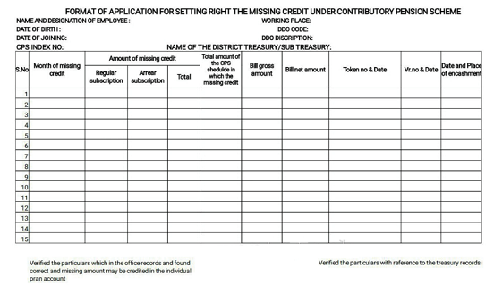 CPS Missing Credit Proforma(www.naabadi.org)