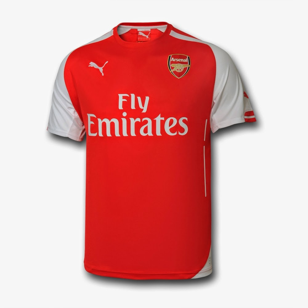 new arrivals 997c3 7c47a Pro Soccer: Arsenal 2014-15 Puma Home, Away, Third Kits Released