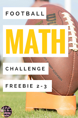 A FREE football math activity for your high flying 2nd and 3rd grade students. Just print and go! Use during the football playoffs or as a Super Bowl math activity in January or February. Perfect for math center activities, homework, problem of the week, small group work, a number talk, or fast finisher. Fun for kids and NO PREP for teachers! Click for the free printable. #math #free #teacherspayteachers #education #tpt #secondgrade #thirdgrade #football #superbowl